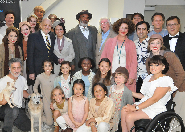 Charles Strouse, Martin Charnin and Cast